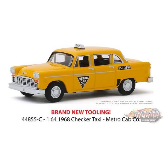 1968 Checker Taxi GreenLight 1:64 Starsky and Hutch 44855-C Metro Cab Co
