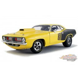 1972 Plymouth  Drag  CUDA-  Black and Yellow  - ACME 1/18 - A1806118 - Passion Diecast