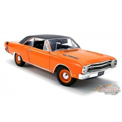 1969 Dodge Dart GTS 440 Hardtop in Orange with Vinyl Top -  Acme 1/18 - A1806404VT v