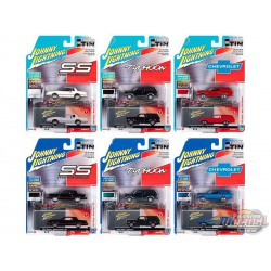 Collector's Tin 2020 Release 1 (6-Car Set) Johnny Lightning 1:64 - JLCT003 -  Passion Diecast  -  Passion Diecast