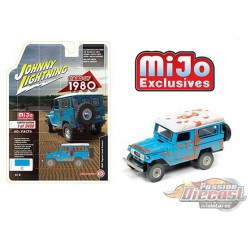Toyota Land Cruiser Hard Top 1980 Blue Rusted - Johnny Lightning 1/64 Mijo Exclusive - JLCP7329  -  Passion Diecast
