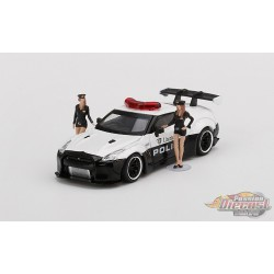 Nissan GT-R R35 LB WORKS Police with 2 Figures  -  MINI GT 1:64 - MGT00147-R -  Passion Diecast