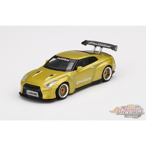 Nissan GT-R R35 GT Wing Cosmopolitan Yellow  -  MINI GT 1:64 - MGT00125  -  Passion Diecast