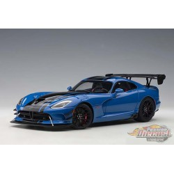 Dodge Viper GTS-R Commemorative Edition ACR 2017 - Competition Blue w/ White Stripes - Autoart 1/18 - 71734 - Passion Diecast