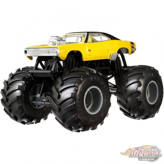 1970 Dodge Charger R/T Monster Trucks   - Hot Wheels 1:24 - GBV30 -  Passion Diecast