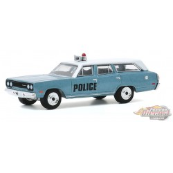 1970 Plymouth Belvedere Emergency Wagon Police Pursuit  - Estate Wagons Series 5 - 1/64  Greenlight - 29990 C - Passion Diecast
