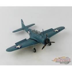 Douglas SBD-3 Dauntless USN, C. Wade McClusky, USS Enterprise, Battle of Midway - Hobby Master 1/72 HA0174 - Passion Diecast