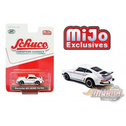 Porsche 911 (930) Turbo (White)  Schuco 1:64 MiJo Exclusives - 4400