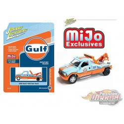 1999 Ford F-450 Gulf  Tow Truck Johnny Lightning 1:64 - 50th Anniversary - JLCP7257  -  Passion Diecast