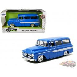 1957 Chevrolet Suburban Blue - Just Trucks -  Jada 124 - 97190 -  Passion Diecast