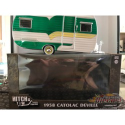Hitch & Tow Trailers Series 5 -1958 Catolac DeVille Travel Trailer GREENMACHINE 1/24 18450 AGR