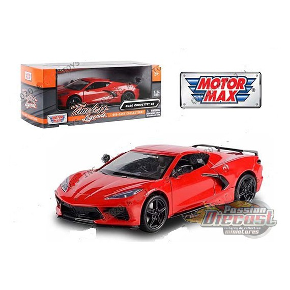 MotorMax 2020 Chevrolet Corvette C8 1:24 Scale Diecast Model Car Motor Max 79360