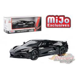 2020 Chevrolet Corvette C8 Stingray Black  MiJo Exclusives  - Motormax 1/24 - 79360 BK- Passion Diecast