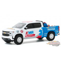 2020 Chevrolet Silverado - with Safety Equipment - NTT IndyCar Series AMR Safety Team  - greenlight 1/64 Hobby Exclusif - 30179