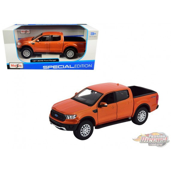 2019 Ford Ranger Copper Orange - Maisto 1/24 - 31521 OR - Passion Diecast