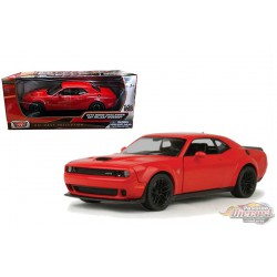 2018 Dodge Challenger SRT Hellcat Widebody Red - Motormax 1/24 - 79350 RD - Passion Diecast