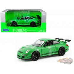 Porsche 911 GT3 RS 997 Green  Welly 1/24 - 22459 GR - Passion Diecast