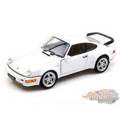 Porsche 964 Turbo White  -  Welly 1/24 - 24023 -  Passion Diecast