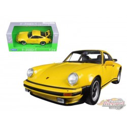 1974 Porsche 911 Turbo 3.0 Yellow - Welly 1/24 - 24043 YL  - Passion Diecast