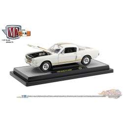 Shelby G.T. 350H 1966 White/gold  - M2 Machines 1:24  - M2-40300 - Passion Diecast