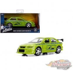 BRIAN'S 2002 Mitsubishi Lancer Evolution VII  - Fast & Furious -  Jada 1:32  - 99789 - Passion Diecast