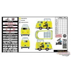 1960 Volkswagen Delivery Van Custom Short Wheelbase EMPI  - M2 Machines 1:64 Hobby Exclusive - 31500 HS11  - Passion  Diecast