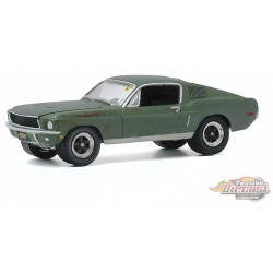 1968 Ford Mustang GT 'Bullitt' - Mecum Auctions Series 5  -  greenlight 1-64  - 37210 A - Passion Diecast