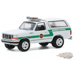 1993 Ford Bronco US Customs  Border Patrol - Hot Pursuit Series 35 -  1-64 greenlight 42920 D -   Passion Diecast