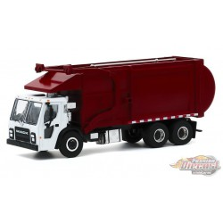 2019 Mack LR Refuse Truck - White and Red -   SD Trucks 10 - Greenlight  1.64 - 45100 C - Passion Diecast