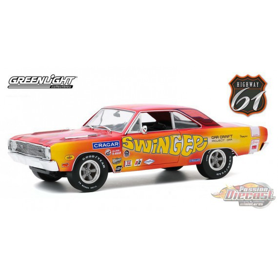 1969 Dodge Dart 340 Swinger - Car Craft Project Car -  HWY 61- 1/18 - 18024  -  Passion Diecast