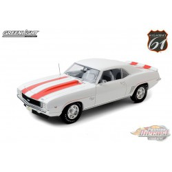 1969 Chevrolet Camaro Z10 Pace Car Coupe in White with Orange Stripes -  HWY 61-1/18 - 18026 - Passion Diecast