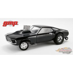 1969 Mustang Gasser - Show Stopper - Triple Gloss Black  - 1/18 GMP -  18932  - Passion Diecast