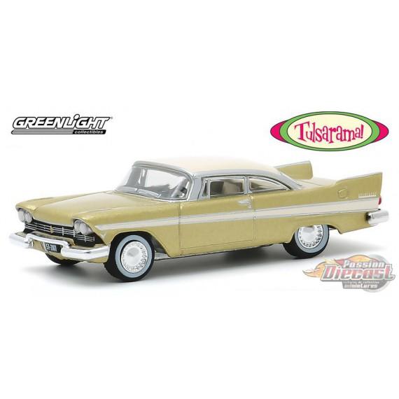 "1957 Plymouth Belvedere - Desert Gold  - ""Tulsarama"" 1957 Underground Vault - greenlight 1/64 - Hobby Exclusif - 30157"