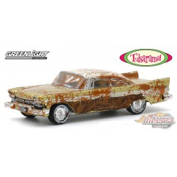 "1957 Plymouth Belvedere - Desert Gold -""Tulsarama"" 2007 Underground Vault Unearthing - greenlight 1/64 - Hobby Exclusif - 301578"