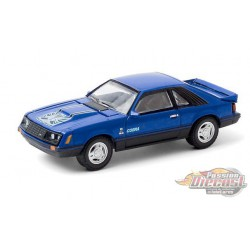 1979 Ford Cobra T5 - Blue Glow  - greenlight 1/64  Hobby Exclusive - 30205  -  Passion Diecast