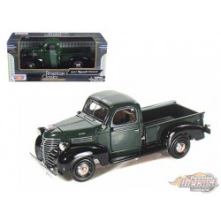 1941 PLYMOUTH PICK UP GREEN - Motormax 1/24 73278 GR - Passion Diecast