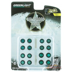 Hollywood Icons  Wheel & Tire Pack  (Hobby Exclusive) 1/64 GREENMACHINE  - 16050 CGR