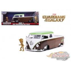 1963 Volkswagen Pick Up / Groot Figure - Guardiens of the Galaxy -  Jada 1/24 - 31202 - Passion Diecast