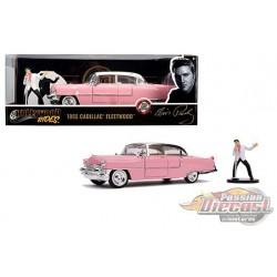 Cadillac Fleetwood 1955 série 60 Pink /Elvis Presley  Figure -  Jada 1/24 - 31007 - Passion Diecast