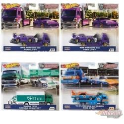 Team Transport G Case Set of 4 - Hotwheels 1/64  -  FLF56-956G