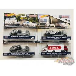 Team Transport E Case Set of 4 - Hotwheels 1/64  -  FLF56-956E