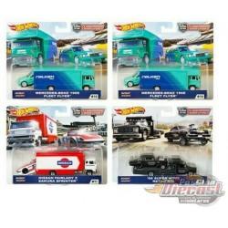 Team Transport D Case Set of 4 - Hotwheels 1/64  -  FLF56-956D -  Passion Diecast