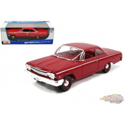 1962 Chevrolet Bel Air  Red  - Maisto 1/18 - 31641 RD  - Passion Diecast