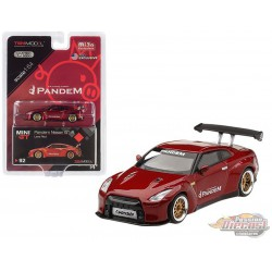 Nissan GT-R R35 Pandem with GT Wing Lava Red -  MINI GT 1:64 - MGT00092 - Passion Diecast