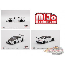 LB- Silhouette Works GT Nissan 35GT-RR Version 1 White-  MINI GT 1:64 - Mijo Exclusive - MGT00168 - Passion Diecast