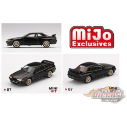 Nissan GT-R R32 Black With BBS Wheels -  MINI GT 1:64 - Mijo Exclusive - MGT00087 - Passion Diecast