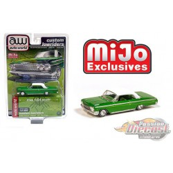 1962 Chevrolet Impala SS Hard Top - Green /white top - Lowriders - Auto World 1/64 MiJo Exclusives - CP7656 - Passion Diecast