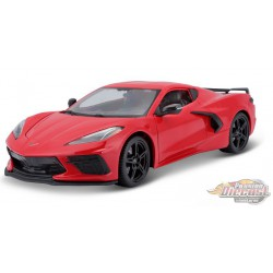 2020 Chevrolet Corvette Stingray Coupe C8  Red - Maisto 1:/18 - 31447 RD - Passion Diecast