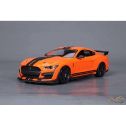 2020  Mustang Shelby GT500 Orange with Black Racing Stripes - Maisto 1:/18 - 31388 OR  - Passion Diecast