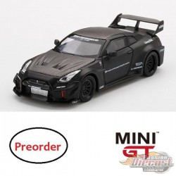 LB-Silhouette WORKS GT NISSAN 35GT-RR Ver.1 Matte Black  -  MINI GT 1:64 - China Exclusive - MGT00169-R - Passion Diecast